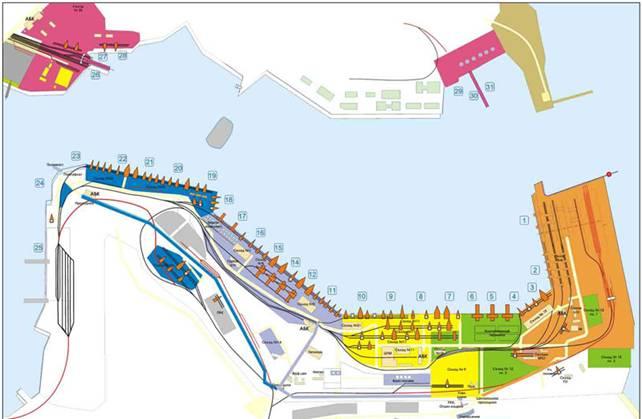 Схема Ильичёвского Морского