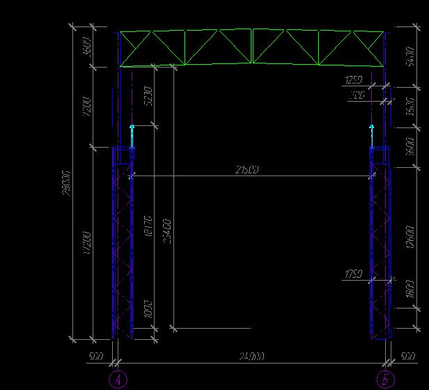 Схема поперечной рамы