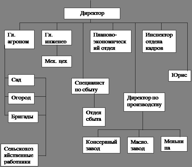 Схема управления ЗАО «